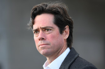 AFL boss Gillon McLachlan is being represented in the proceedings.