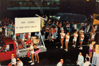 ACON helps to celebrate the 10th anniversary of Mardi Gras in 1987.