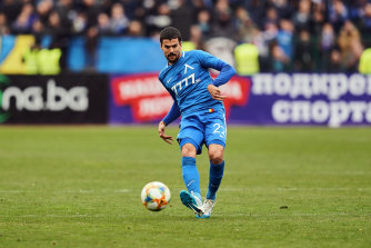 Nuno Reis in action for Levski Sofia.