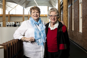Barbara Emslie worked as a trainee nurse and Ann Long worked as a doctor in the former Marrickville hospital, which will soon re-open as a library.