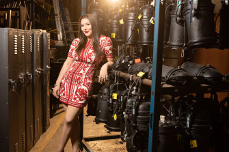 Francesca Packer Barham backstage at the Roslyn Packer Theatre this week.