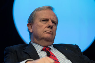 Former treasurer Peter Costello, chairman of the Future Fund.