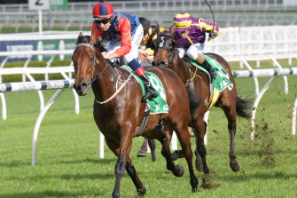 Sir Elton puts a gap on his rivals at Randwick in July.