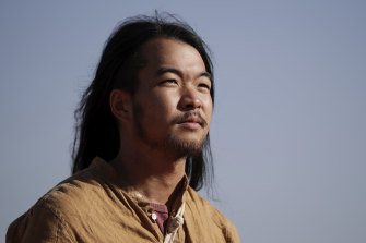 Hikaru Ide pays his respect to Uluru and the wishes of the traditional owners not to climb.