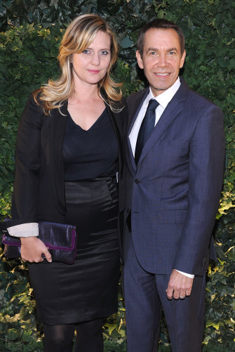 With his second wife, Justine Wheeler-Koons.