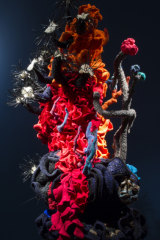 Coral Forest - Stheno, by Christine Wertheim, at the Museum of Arts and Design NYC.