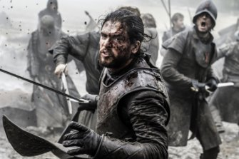 Jon Snow (Kit Harington) in the thick of it during the Battle of the Bastards.