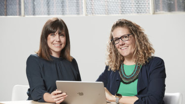 Lucinda Hartley and Jessica Christiansen-Franks, founders of data startup Neighbourlytics.