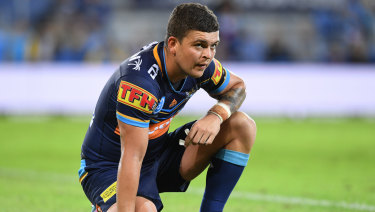 Feeling the heat: Titans star Ash Taylor.