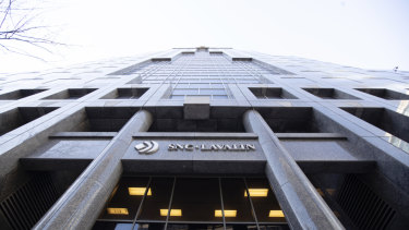 SNC-Lavalin's headquarters in Montreal, in the province of Quebec where Justin Trudeau has his parliamentary seat.