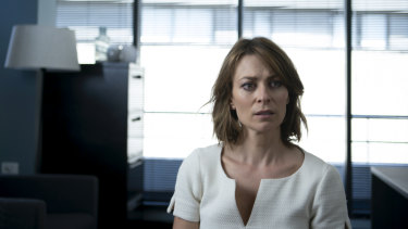 As fastidious lawyer Liz, Kat Stewart handles comedy and high drama with equal aplomb.