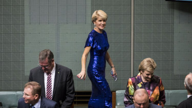 Julie Bishop has welcomed early indications the new Morrison government may have a higher proportion of women.