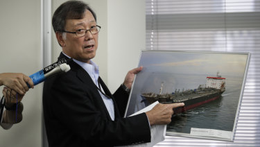 Yutaka Katada, president of Kokuka Sangyo, the Japanese company operating one of two oil tankers attacked near the Strait of Hormuz.