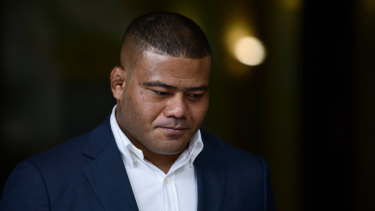 Tolu Latu arrives at Downing Centre Local Court on June 14.