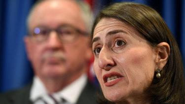 NSW Health Minister Brad Hazzard and NSW Premier Gladys Berejiklian.