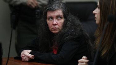 Louise Turpin sits in a courtroom on Friday.