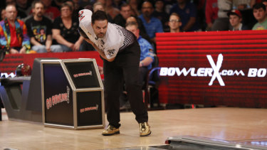 Golden bowl: Jason Belmonte, who bowls with a two-handed action, has risen to the top of his sport and beyond.