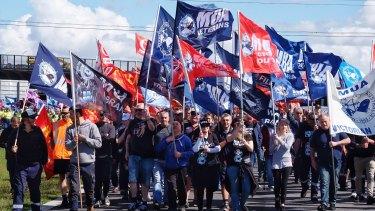 MUA members at Webb Dock in December.