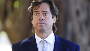 AFL chief Gillon McLachlan made a fly-in visit to Sydney on Thursday.