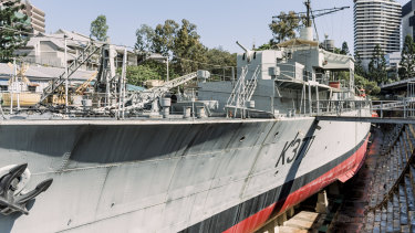 The HMAS Diamantina exhibit at the Queensland Maritime Museum.
