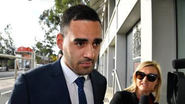 Panthers utility Tyrone May will be sentenced on Friday.
