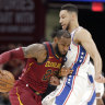 LeBron James, Ben Simmons join forces, show off moves