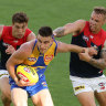 Eagles off to a flying start against scrappy Dees