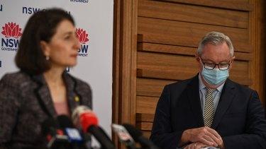 Premier Gladys Berejiklian and Health Minister Brad Hazzard.