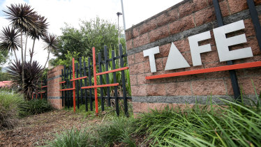 "TAFE is facing an ""existential threat"", says a former bureaucrat, as a new survey finds staff morale has plummeted."