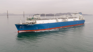 A floating LNG import terminal, similar to the one potentially bound for Crib Point.