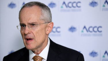 ACCC chairman Rod Sims says allowing companies to temporarily co-operate is efficient in a crisis such as a pandemic.