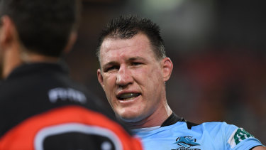 Playing on: Cronulla veteran Paul Gallen has put off retirement.