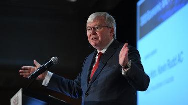 Former prime minister Kevin Rudd has warned that Israel risks destabilising the Middle East.