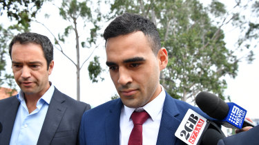 Tyrone May leaves Penrith Local Court on Wednesday.