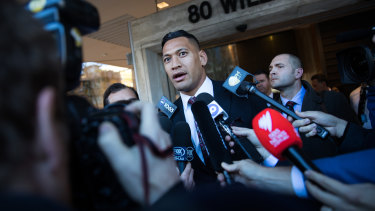 Israel Folau settled his unfair dismissal case with Rugby Australia.