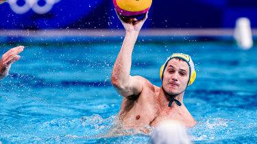 Australian water polo star Aidan Roach, son of former Balmain and NSW prop Steve Roach.