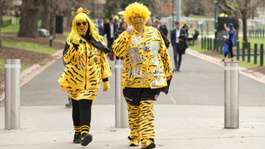 Fans arriving at the MCG during the 2019 Grand Final.