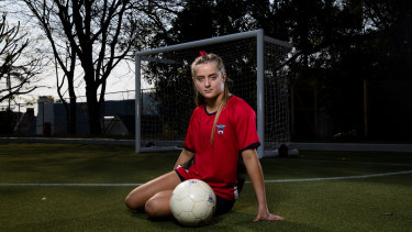 Brigid Sullivan, a year 11 student at Ascham School, sustained a concussion during a soccer game when she was 14.