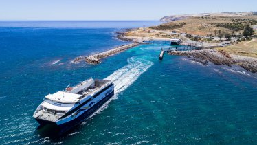 SeaLink runs the ferry service to South Australia's Kangaroo Island. The ferry terminal was damaged by fires.