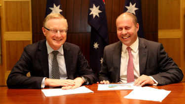 Philip Lowe and Josh Frydenberg met in Melbourne on Thursday.