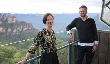 Anthea Hammon, who runs Scenic World in Katoomba, and David Hammon, who runs Sydney's Bridgeclimb, have had to reduce staff numbers with JobKeeper ending.