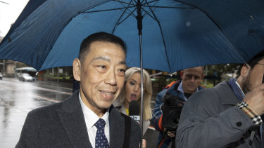 Former NSW MP Ernest Wong arrives at the Independent Commission Against Corruption on Friday.