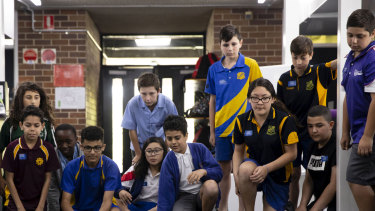 Year six students visit Sir Joseph Banks High School for orientation day.