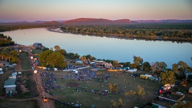 The Aviair HeliSpirit Kimberley Moon Experience site on the banks of the Ord River, Kununurra.