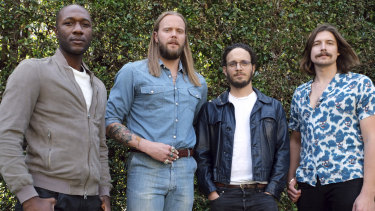 From left, Aloe Blacc, Vincent Pontare and Salem Al Fakir (aka Vargas & Lagola) and Joe Janiak all contributed to TIM.