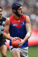 Melbourne's Angus Brayshaw ran himself ragged on Sunday.