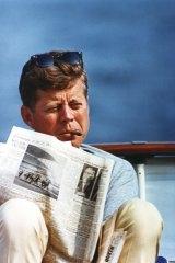 JFK in August 1963 aboard the Honey Fitz.