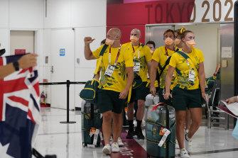 Australian athletes have begun arriving in Tokyo.