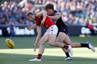 Nick Hind (left) has started well at Essendon