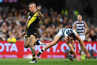 It takes a village to witness what Dustin Martin delivers on the weekend.